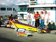Yellow Dragster Byron IHRA